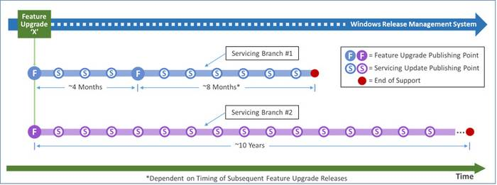 Figure 4. Feature upgrades and servicing branches