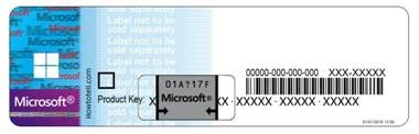 Microsoft License Sticker